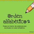 ABC order in Spanish 2