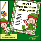ABCs & Sight Words for Kindergarten for December and Christmas