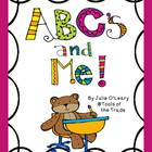 ABC&#039;s and ME! A Word Work Starter Kit for Pre-K, Kinder and 1st!