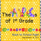 ABCs of 1st Grade Back to School Night PowerPoint Template