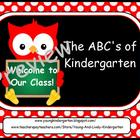 ABC&#039;s of Back to School Owls for ActivBoard
