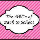 ABCs of Back to School Pink & Black Theme for ActivBoard