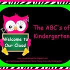 ABCs of Back to School Zebra Print Owls Powerpoint