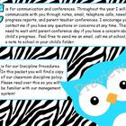 ABC's of Back to School Zebra Print & Turquoise Owls for A