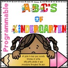 ABC's of Kindergarten - Programmable