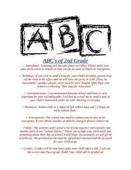 ABC's of School