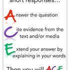 ACE - Responding to Short Answer Questions Poster