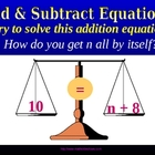 ADD & SUBTRACT ONE STEP EQUATIONS a Powerpoint Presentation