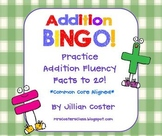 ADDITION BINGO GAME!  Facts to 20!  Common Core Aligned!