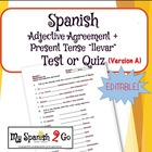 ADJECTIVE AGREEMENT:  Quiz A