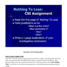 A.Flinn Nothing to Lose Novel Activities & Tests