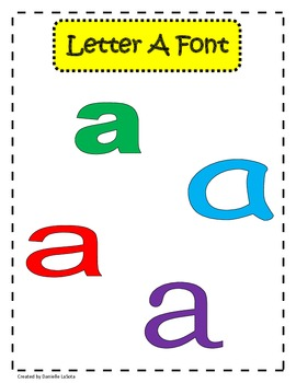 AHHH!  Letter Confusion:  exploring letters using different fonts