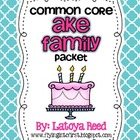 AKE Word Family Packet Long Vowels