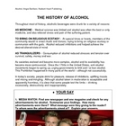 ALCOHOL- READING and follow up activities