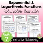ALG 2 UNIT: Exponential and Logarithmic Functions FOLDABLES ONLY