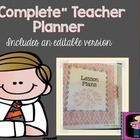 """ALL IN ONE"" Teacher Planner (Shabby Chic) version include"