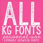 ALL Kimberly Geswein Fonts in One Big Download: Personal Use