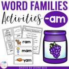 AM Word Family Packet