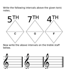 AMEB Theory of Music Grade 1 - Intervals Worksheet