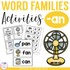 AN Word Family Packet
