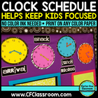 ANALOG CLOCK SCHEDULE DISPLAY PACKET-BLACKLINE DESIGN (clo