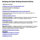 ANTI-BULLYING RESOURCE MATERIALS