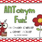 ANTonym Fun! Craftivity &amp; Center Activity