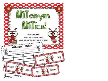 ANTonym Fun! Craftivity & Center Activity