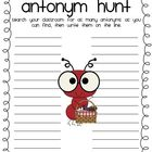ANTonym Hunt Worksheet - FREEBIE