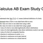 AP Calculus AB Exam Study Guide / Review Guide / Detailed 