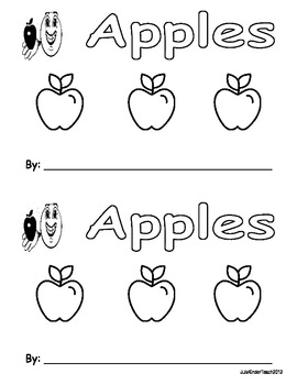 APPLES EMERGENT READER *** PERFECT FOR READ TO SELF AND BU