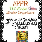APPR Binder Organizer Dividers TED (Teacher Evaluation Dev