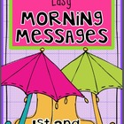 APRIL Bundle - 1st and 2nd Grade - Easy Morning Messages