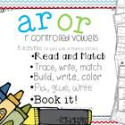 AR  OR - 5 Interactive activities to teach r controlled vowels