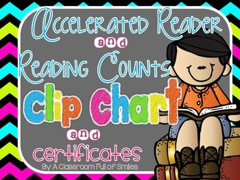 AR or Reading Counts Motivational Clip Chart and Certificates