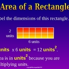 AREA OF A RECTANGLE &amp; SQUARE a Powerpoint Presentation