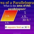 AREA OF A TRIANGLE & PARALLEOGRAM a Powerpoint Presentation
