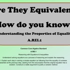 A.REI.1 Are the Equations Equivalent? How do you know?