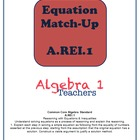 A.REI.1 Equation Match Up Practice
