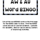 AU AW Word BINGO