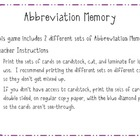 Abbreviation Memory