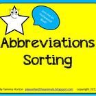 Abbreviations Sorting Packet