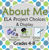 About Me Project Choices & Display: timeline, music brochu
