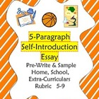 All About Me: Self-Introduction Essay 5-9 Outline, Sample, Rubric