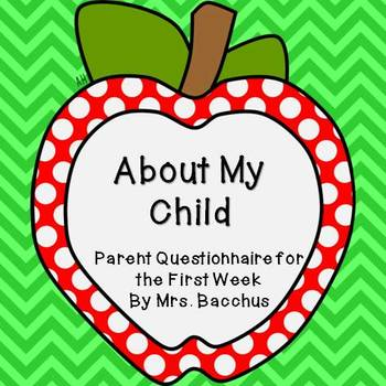 About My Child - Parent Questionnaire