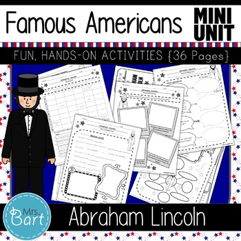 Abraham Lincoln- 19 PAGES of fun activities