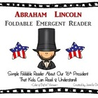 Abraham Lincoln Foldable Emergent Reader ~Color &amp; B&amp;W~ PLU