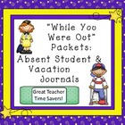 Absent Student Forms &amp; Vacation Journals: Be Prepared for 