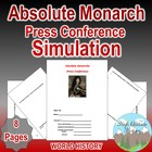Absolute Monarch Press Conference Simulation