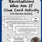 Absolutism to Revolutions Who Am I Review Game Cards World